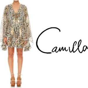 Camilla Moto Maiko Short Kaftan with Pleated Bodic